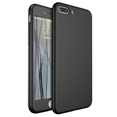 Custodia-iPhone-7-Plus-Leathlux-Ultra-Slim-Protezione-completa-del-corpo-Duro-Custodia-Cover-Case-con-Vetro-Temperato-Pellicole-Protezione-per-iPhone-7-Plus-55