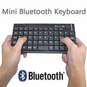 Handheld Bluetooth HID Wireless Chicklet Keyboard with Mouse Control Combo for Media Center PC, Windows 7/Vista/XP, Apple iPad/iPhone 4 & Sony PS3