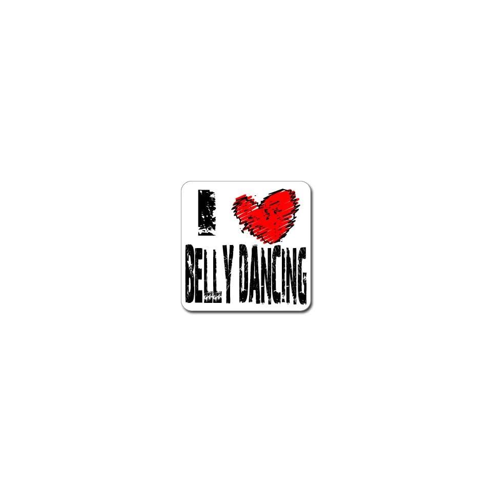 I Love Heart BELLY DANCING   Window Bumper Laptop Sticker
