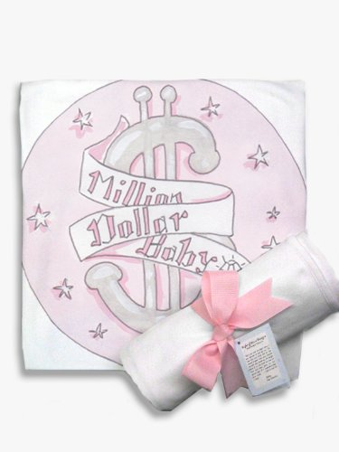 Light of Mine Designs Million $ Baby Pink Receiving/Swaddling Blanket