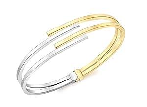 Carissima Gold - Bracelet - Femme - Or Bicolore 375/1000 (9 Cts) 7.1 Gr