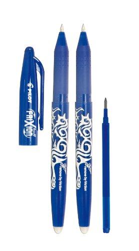 Pilot 2260BM2I Lot de 2 stylos Frixion Ball (Bleu) + 1 mine recharge Frixion
