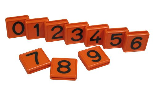 Nummernblock, orange einstellig, Nr. 3