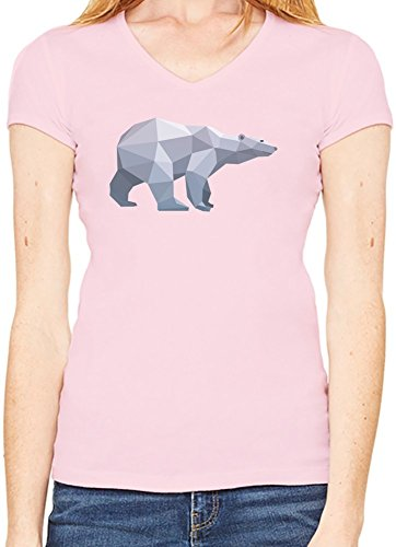 Origami Bear T-Shirt V collo Donne XX-Large