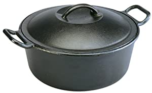 Lodge Pro-Logic P10D3 Cast Iron Dutch Oven, Black, 4-Quart