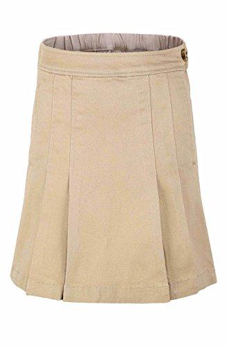 Bienzoe Girl's Stretchy Twill School Uniforms Pocket Scooter Skirt