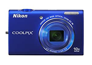 Nikon COOLPIX S6200 16 MP Digital Camera with 10x Optical Zoom NIKKOR ED Glass Lens and HD 720p Video (Blue)