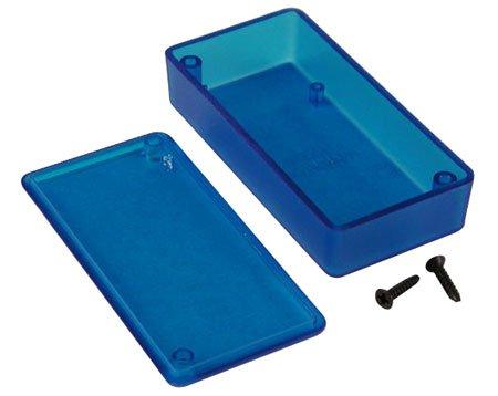 Mini Transparent Enclosure- Blue Plastic- 0.59Inch X 1.58Inch X 3.15Inch-2Pack