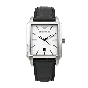 Emporio Armani Men's AR0481 Classic Black Leather Band Watch