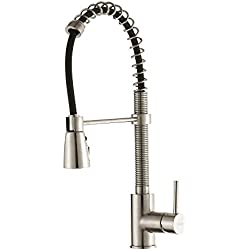 Kraus KPF-1612SS Single Lever Pull Down Kitchen Faucet in Stainless Steel