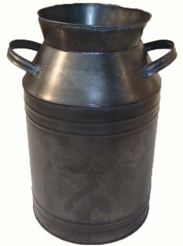 Craft Outlet Milk Can Container, 13.75-Inch, Black (Milk Cans Antique compare prices)