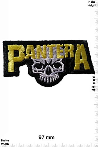Patch - Pantera - yellow - MusicPatch - Rock - Chaleco - toppa - applicazione - Ricamato termo-adesivo - Give Away