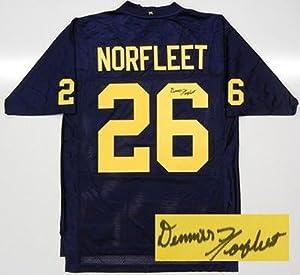 Denis DeJordy Autographed Jersey - Dennis Norfleet Michigan Wolverines Coa by Sports+Memorabilia