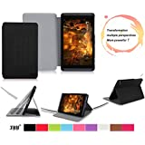 NVIDIA SHIELD Tablet (32G WiFi+4G LTE) / (16G WiFi-only) Case Cover, FYY Ultra Slim Magnetic Smart Cover Multi-Angle Stand Case for NVIDIA SHIELD Tablet (32G WiFi+4G LTE) / (16G WiFi-only) (With Auto Wake/Sleep Feature) Black