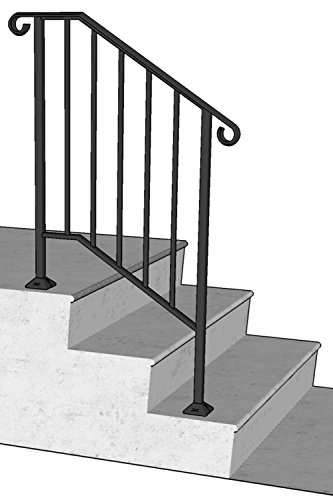 DIY Iron X Handrail Picket #2 Fits 2 or 3 Steps (Wrought Iron Railing For Steps compare prices)