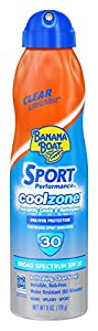 Banana Boat Sport Cool Zone Sunscreen Continuous Spray, 6 Fluid Ounce