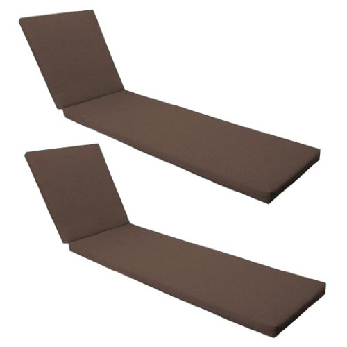 Outdoor Garden Sun Lounger Pad / Cushion 2 Pack in Brown, Comfortable and Lightweight. Great for Indoors and Outdoor Use, Made from High Quality Water Resistant Material.