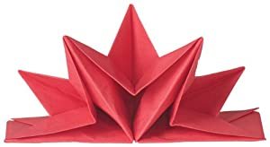 Now Designs Origami Paper Napkins, Red