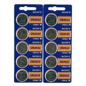 Sony CR2032 Lithium 3V Batteries (2 x Pack of 5)