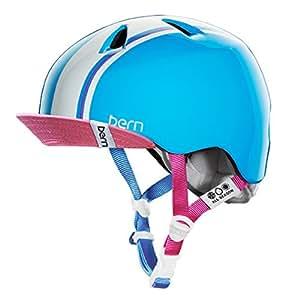 bern (バーン)ヘルメット [ NINA /Gloss Cyan Racing StripeサイズXS-S]オールシーズンジュニア (2014/15モデル)日本正規品