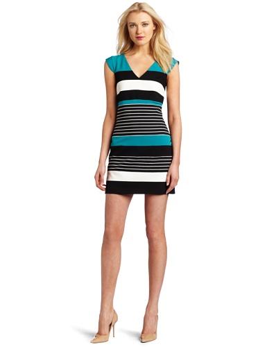 laundry BY SHELLI SEGAL Women's Color Block Stripe Dress
