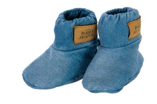 Xplorys Baby Jeans 180100 - Stivaletti in jeans per bebè, 0-6 mesi
