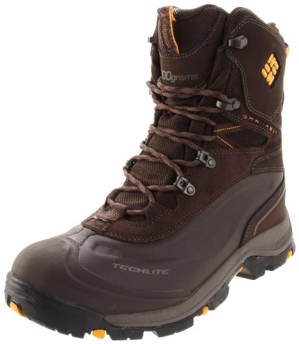 Columbia Men's Bugaboot Plus Turkish Coffee, Golden Glow Snow Boot BM1490 10 UK