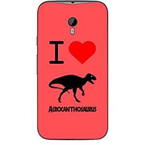Skin4gadgets I love Acrocanthosaurus Colour - Indian Red Phone Skin for MOTOROLA MOTO G3