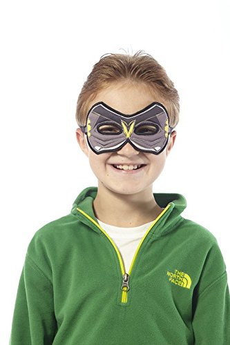 Fanciful Fantasy Flier Fabric Bat Mask - 1