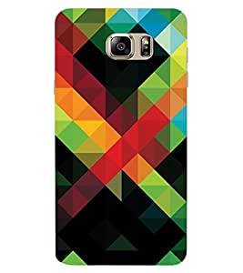 ColourCraft Colourful Pattern Design Back Case Cover for SAMSUNG GALAXY NOTE 6