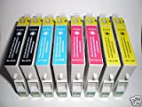 8 (2 FULL SETS) EPSON COMPATIBLE INK CARTRIDGES FOR EPSON PHOTO STYLUS S20, SX100, SX105, SX200, SX205, SX400, SX405, SX600FW, BX300F, S21, SX110, SX115, SX215, SX410, SX415, SX515W, SX209, SX405 WiFi,