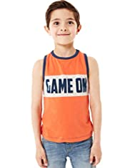 Limited Pure Cotton Game on Vest Top