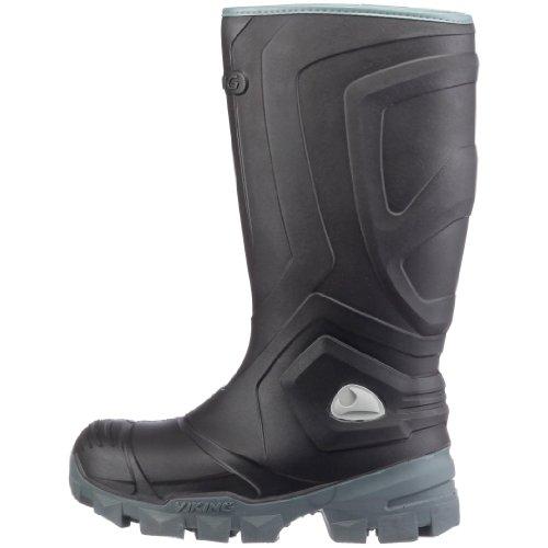 Viking ICEFIGHTER, Unisex-Erwachsene Gefütterte Gummistiefel, Schwarz (Black/Grey 203), 45 EU -