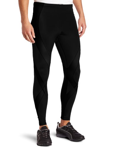 CW-X Men's Pro Running Tights,Black,Small