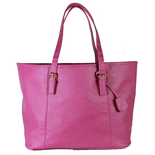 Women's Ladies Leather Style Large Tote Bag Shoulder Handbag