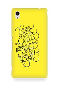 AMEZ you can never cross the Ocean Back Cover For Sony Xperia M4