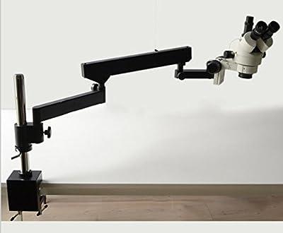 GOWE 3.5X-90X ARTICULATING ARM ZOOM STEREO MICROSCOPE+ SZM0.5X & SZM2.0X Microscope Auxiliary Lens