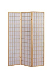 ACME 02285 Naomi 3-Panel Wooden Screen, Natural Finish
