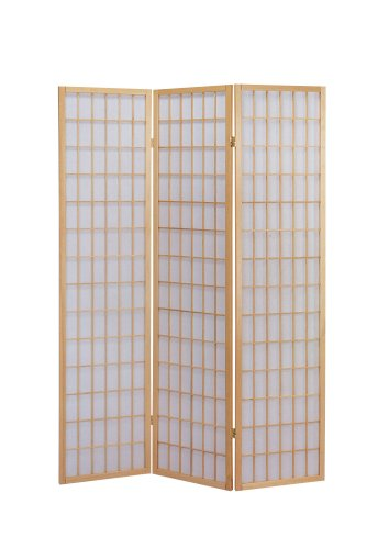 Find Bargain ACME 02285 Naomi 3-Panel Wooden Screen, Natural Finish