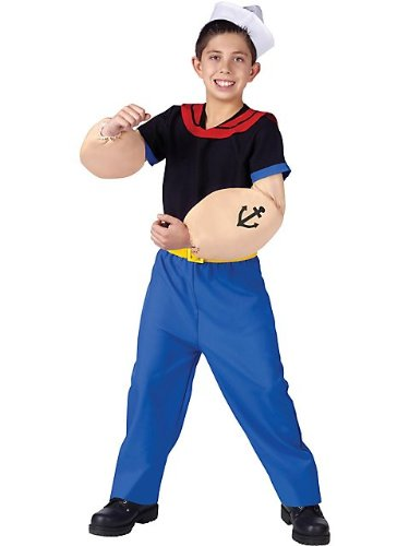 Popeye the Sailor Man Kids Costume