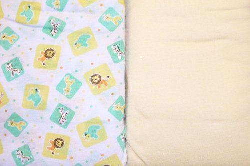 Snugly Baby Fitted Crib Or Toddler Bed Sheet - 2 Pack -Zoo Blocks Print & Yellow