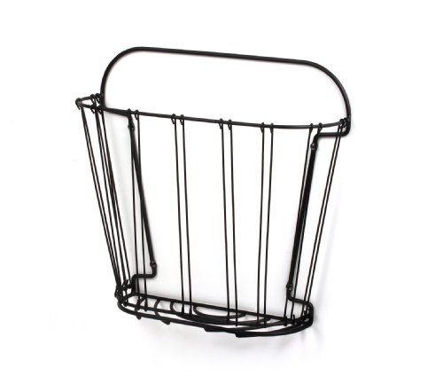Spectrum 38910 Double Wire Wall-Mount Magazine Rack, Black
