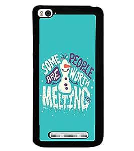 printtech Melting Quote Back Case Cover for Xiaomi Redmi Mi4i , Xiaomi Mi 4i