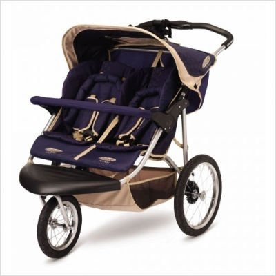 Safari 2008 Double Jogging Stroller in Blue / Khaki