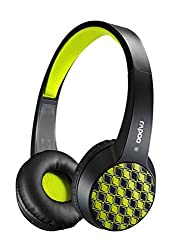 Auawak Rapoo S100 Bluetooth Fashionable Stereo Wireless Headset With Built-in Microphone for ipad iPhone and Laptops Desktops PC - Black