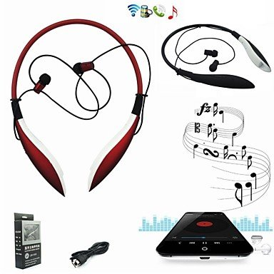 Ty Hbs-800 Big Shark Design Wireless Sport Headset Bluetooth Earbuds Stereo Headphones For Iphone/Samsung/Ipod/Pc , Red