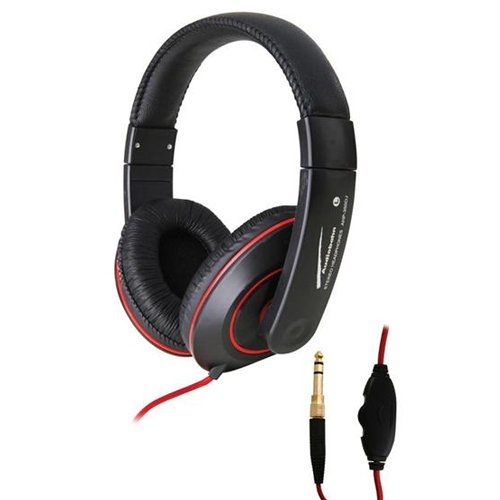 Audiobahn Ahp350J Blaze Headphones With 40Mm Driver, In-Line Volume