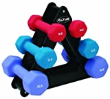 Altus Athletic 32-Pound Dumbbell Set with Stand