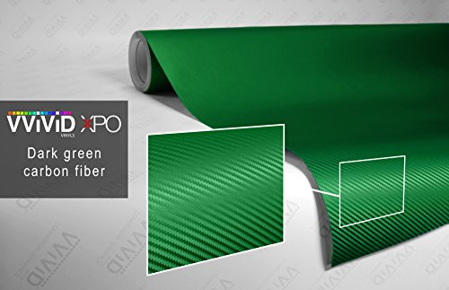 VViViD XPO Dark Green Dry Carbon Fiber 1ft x 5ft Vinyl Wrap Roll with Air Release Technology (Green Carbon Fiber Sheet compare prices)