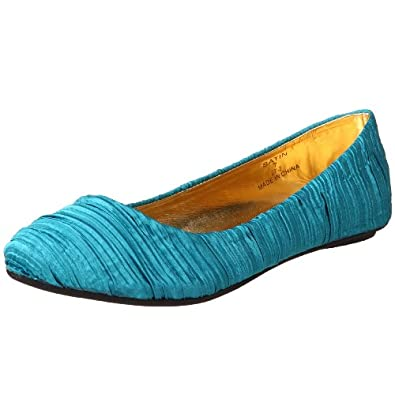 Nomad Footwear Women's Satin Ballet Flat,Teal,6 M US